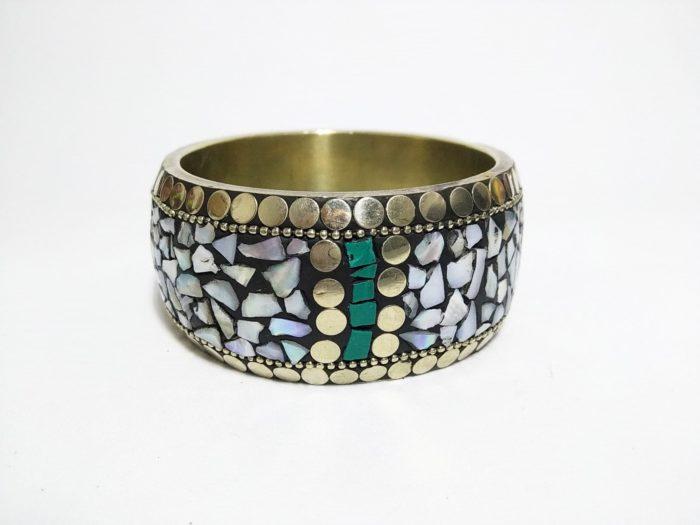 bracelete de pedras naturais