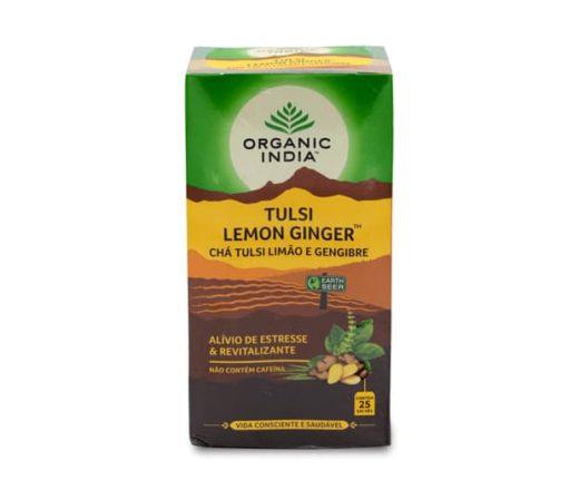 chá organic india lemon ginger