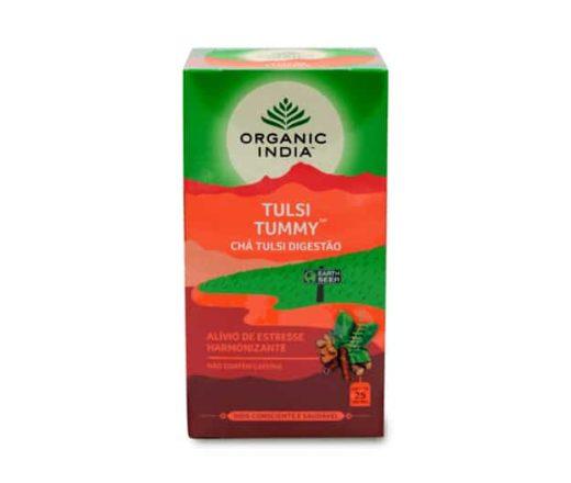 chá Organic India Tummy Digestivo