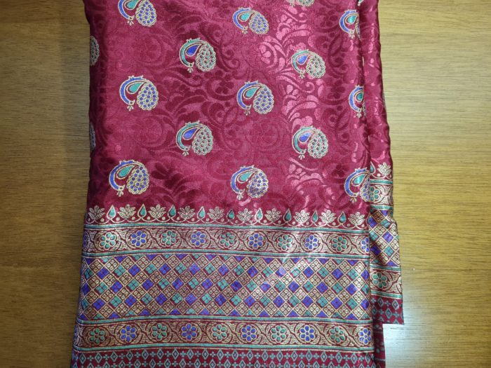 sari indiano vermelho