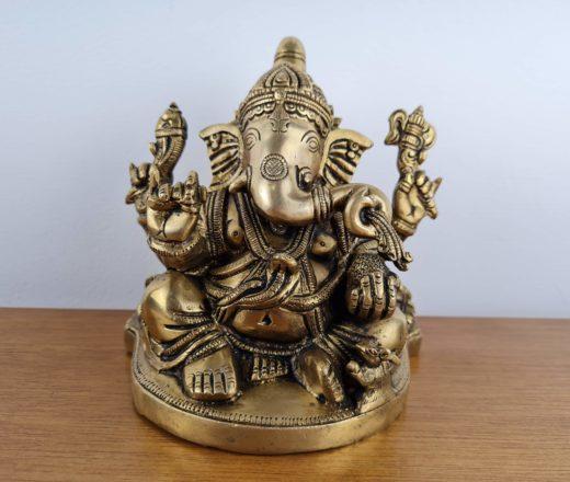 Deus Ganesha estátua de metal bronze