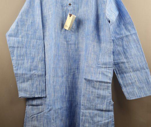 Bata indiana masculina longa azul