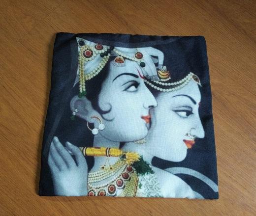 capa de almofada de Krishna e Radha