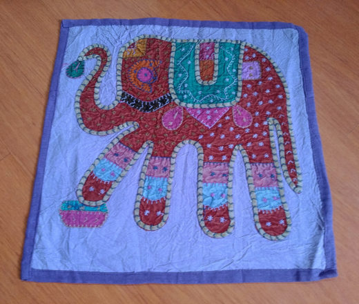 capa de almofada indiana de elefante