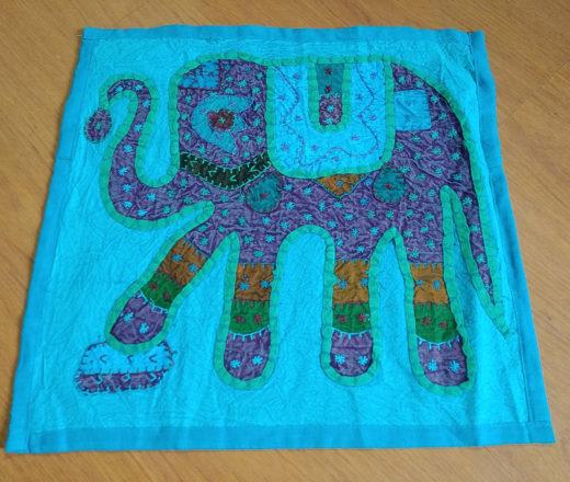 almofada indiana de algodão