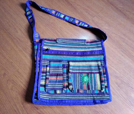 bolsa indiana algodão listrada