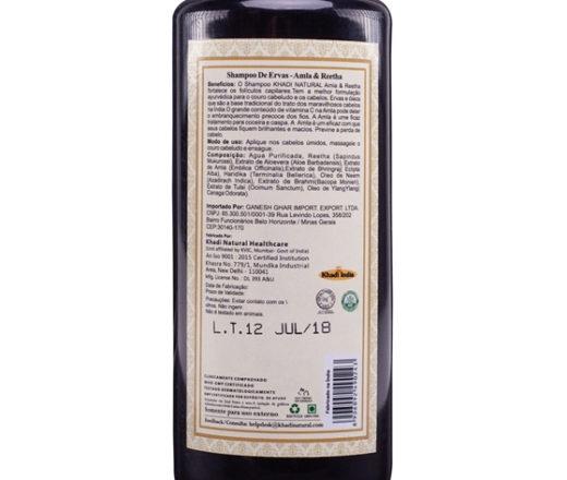 Ingredientes do Shampoo Amla e Reetha Khadi