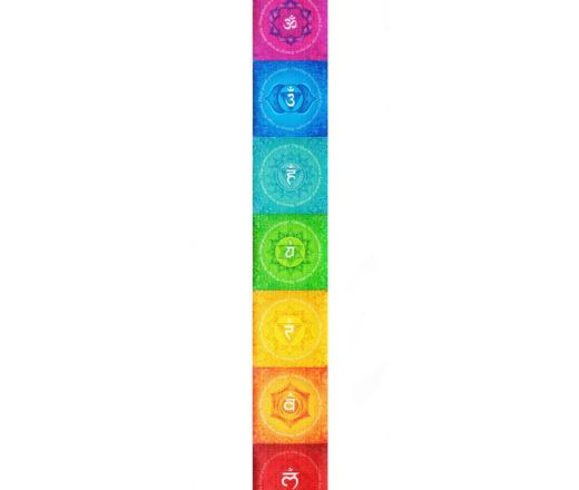 bandeira de 7 chakras de parede