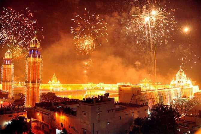 Diwali na Índia, e os fogos de artifício