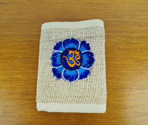 carteira de cânhamo indiana com símbolo do Om