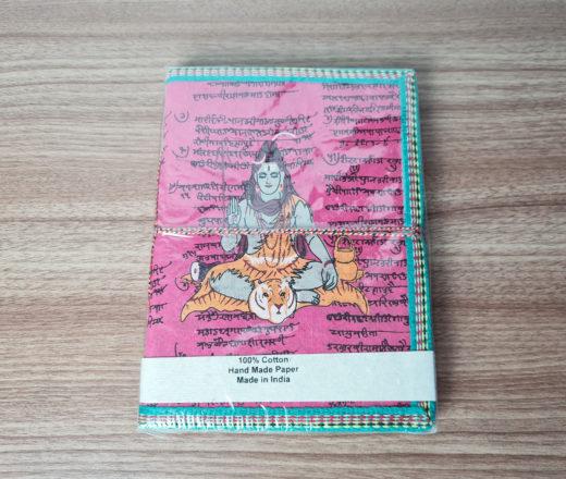 caderno ou agenda de Shiva artesanal feito na Índia