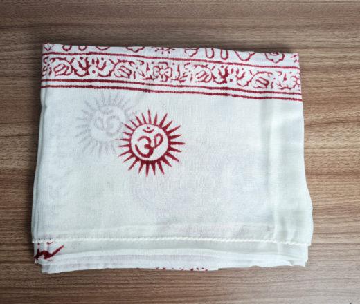 chadar de oração indiano branco de Ganesha