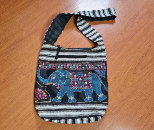 bolsa indiana elefante algodão