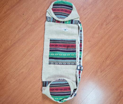 porta mat yoga da Índia com tecido de cânhamo