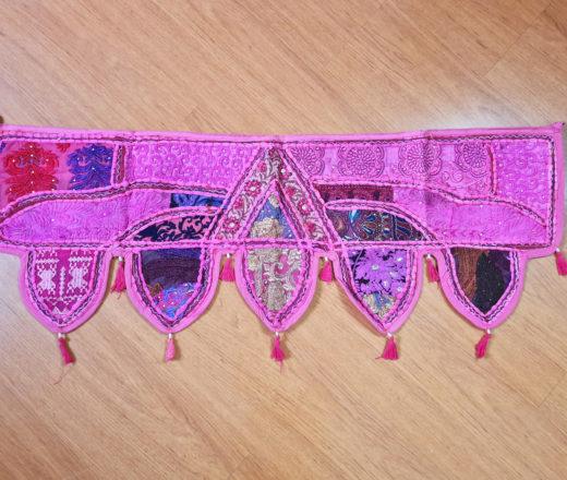 toran indiano cor pink com 5 pontas