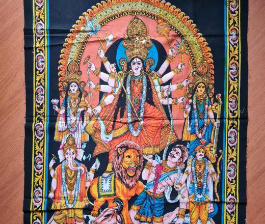 panô de Durga e deidades
