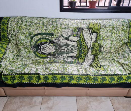 colcha indiana de Shiva em algodão