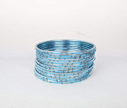 Conjunto de pulseiras indianas de metal