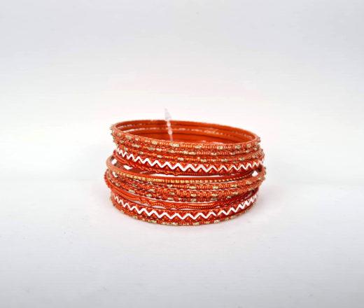 pulseira indiana de metal laranja