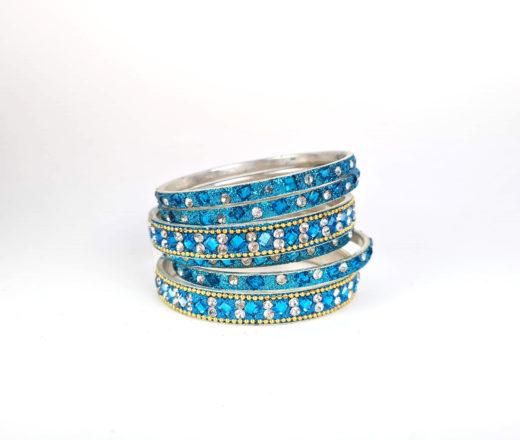 pulseira indiana azul