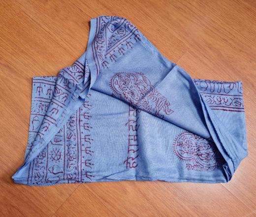 chadar indiano de algodão com blockprinting de Ganesha