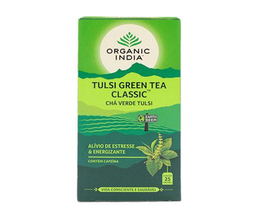 chá verde tulsi Organic India