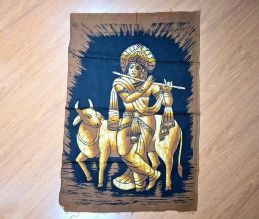 painel de tecido de Krishna para pendurar