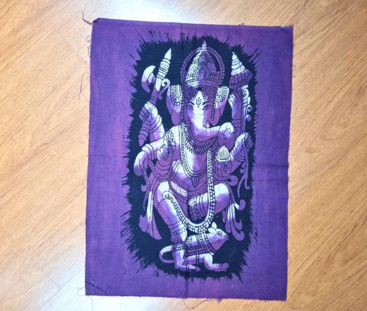 panô de Ganesha roxo