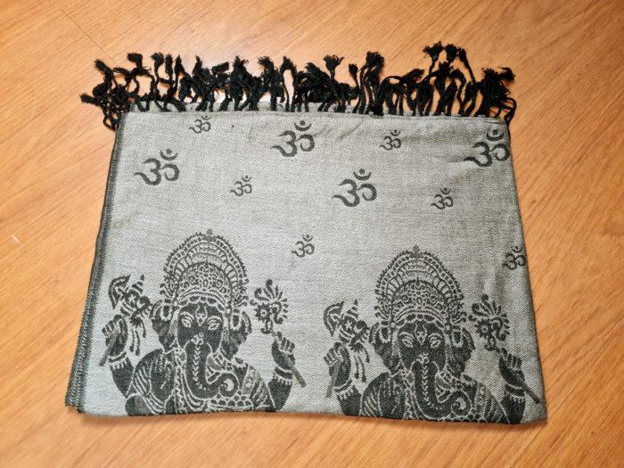 lenço indiano dupla face Deus Ganesha