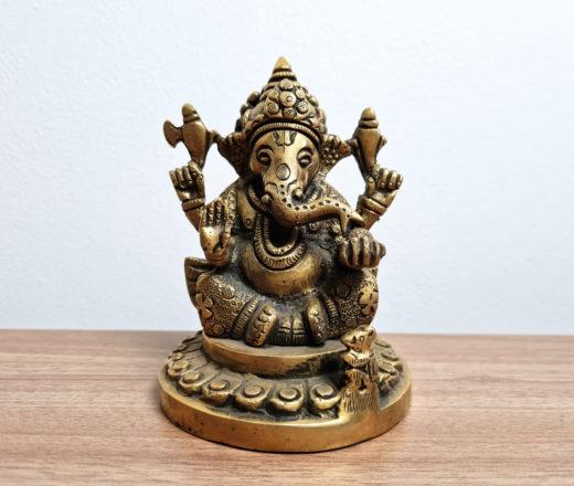estátua de Ganesha média 12cm de metal
