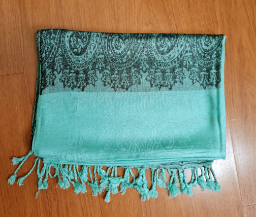 lenço indiano de viscose verde menta