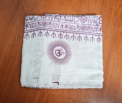 Chadar de oração indiano de algodão com estampa de Ganesha