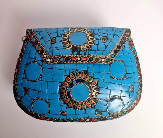 bolsa indiana ,mosaico de pedras