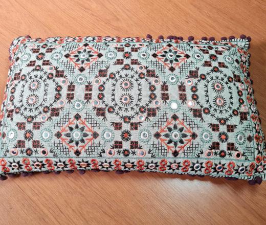 almofada grande indiana para cama ou sofá