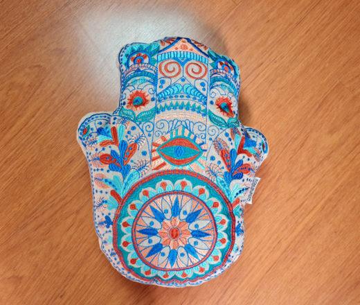 almofada indiana Mão de Fátima (Hamsá)