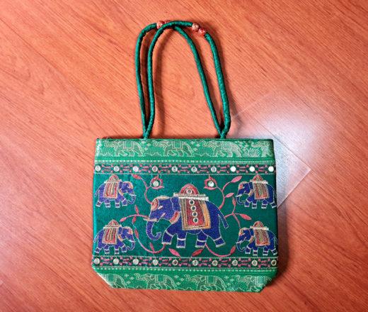 bolsa indiana de elefante com bordados