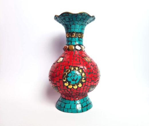 vaso indiano mosaico de pedras naturais