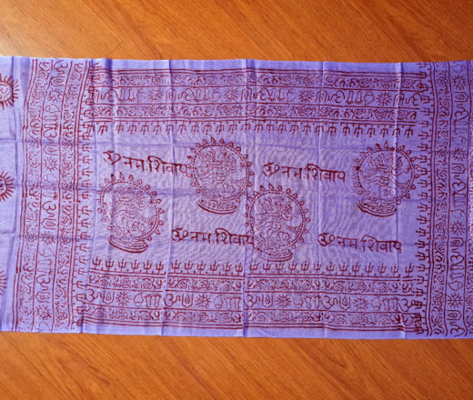 chadar indiano de Shiva Nataraja lilás