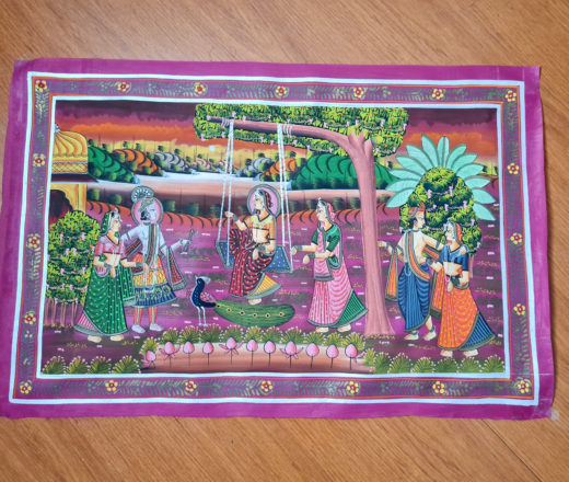 pintura indiana em seda