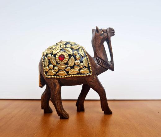 camelo de madeira indiano 11cm