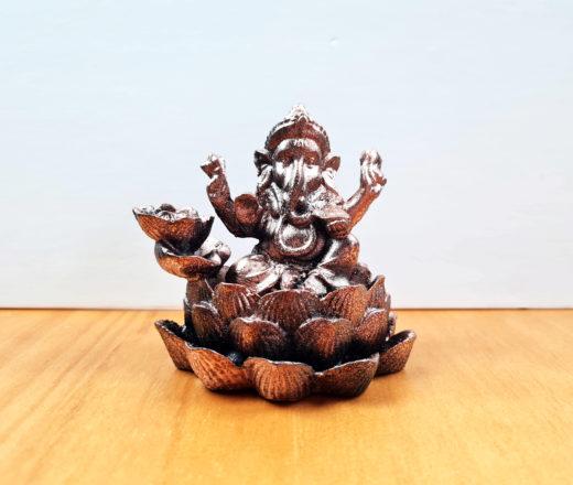 incensário de cascata de Ganesha na flor de lótus