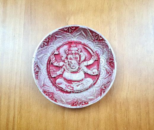 incensário indiano de Ganesha feito em resina com 12 cm