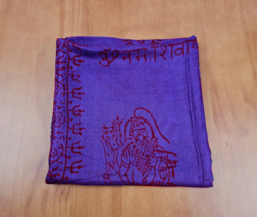 Chadar indiano (manto de oração) de Krishna azul